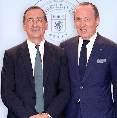 Gildo Zegna con Sala, sindaco di Milano