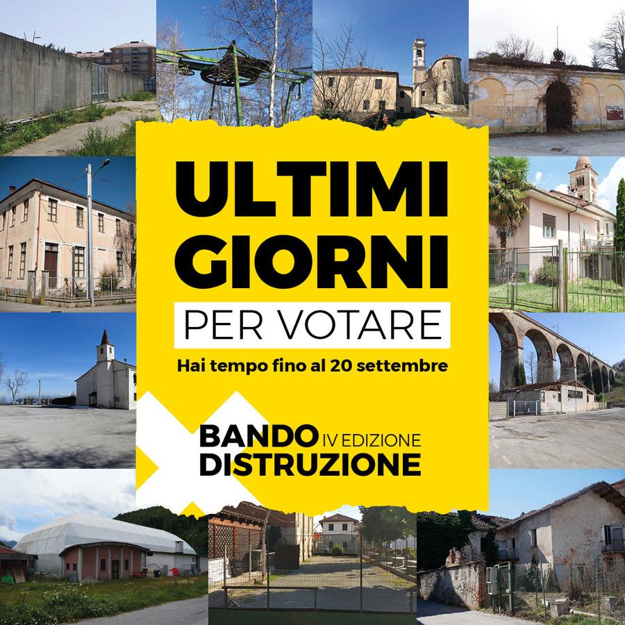 Cuneo: ultimi giorni per il bando Distruzione