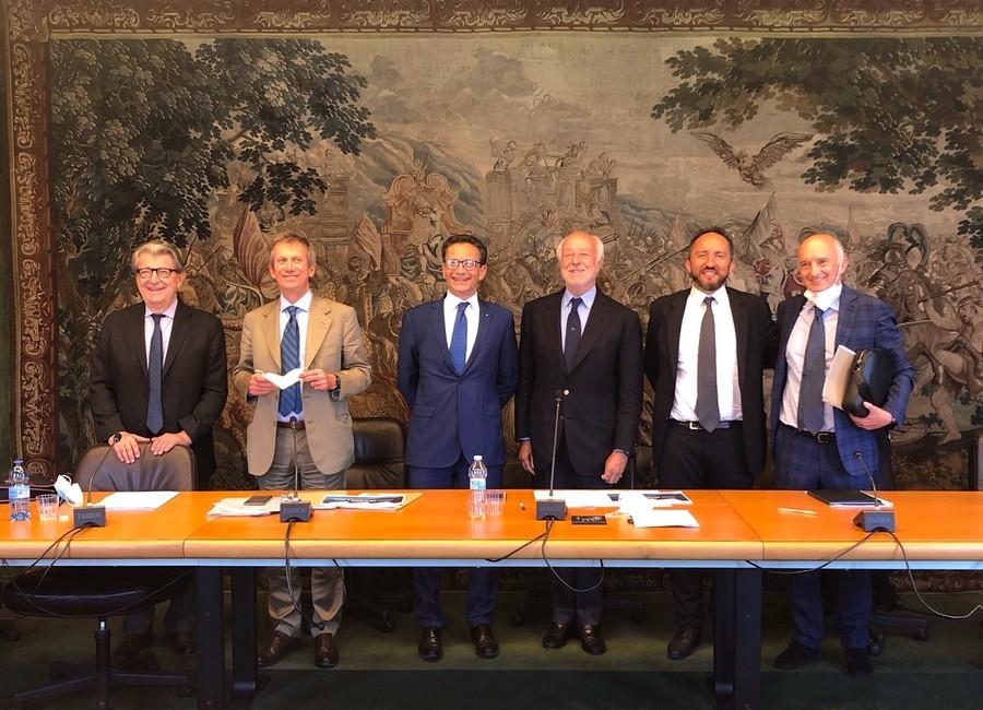I vertici dell'Unione Industriale di Torino e dell'Amma