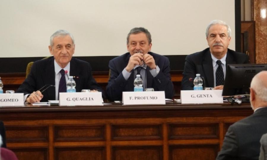 Il presidente Quaglia con i vice presidenti Profumo e Genta