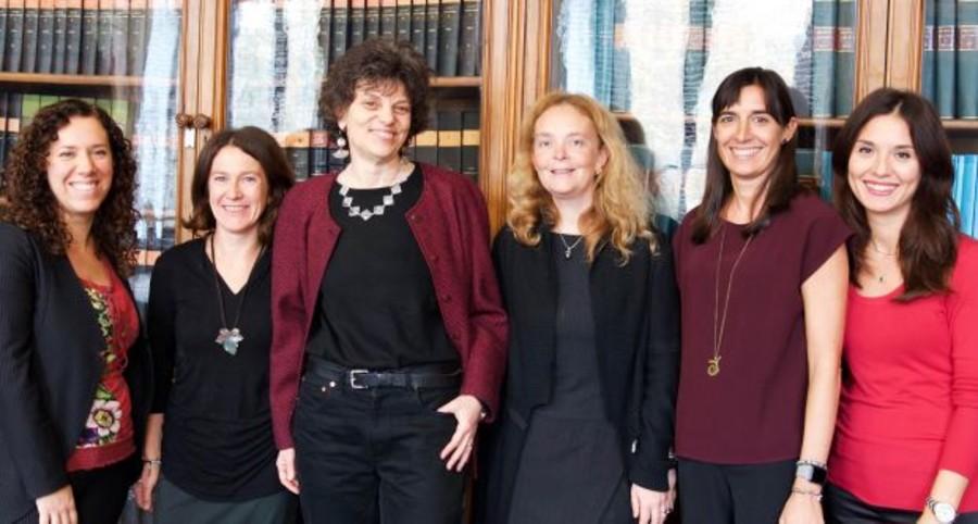 Silvia Bordiga con il suo staff
